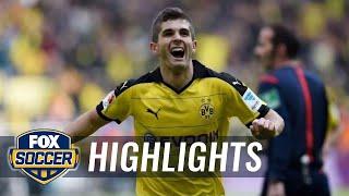 Christian pulisic scores his first bundesliga goal vs. hamburg | 2015-16 bundesliga highlights