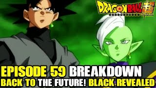 Dragon ball super - episode 60 preview + episode 59 to the future! goku black's identity revealed!