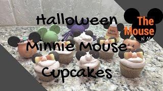 Mini Minnie Mouse Pumpkin Cupcakes!