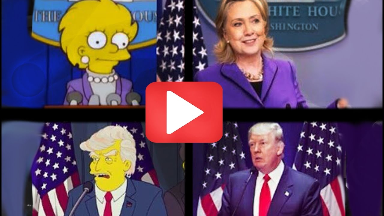 TRUMP Election PREDICTED By The Simpsons YouTube - Simpons us map vs real voters map