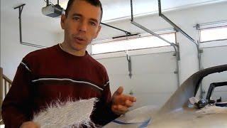 Repairing Holes in Fiberglass Panels
