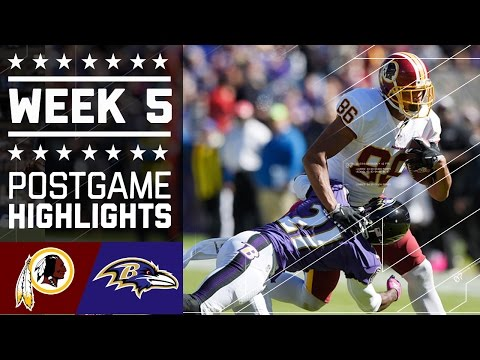 Redskins vs. Ravens | NFL Week 5 Game Highlights
