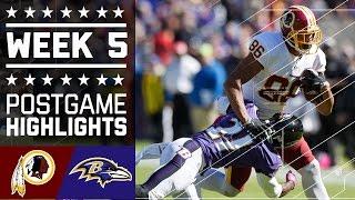 Redskins vs. Ravens | NFL Week 5 Game Highlights