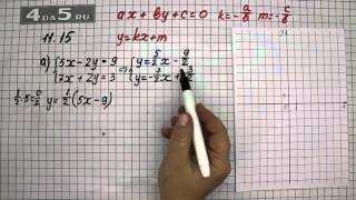 Упражнение 11.15. Вариант А. Алгебра 7 класс Мордкович А.Г.