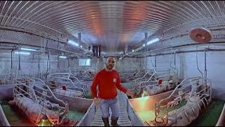 Visite 360° de l'élevage de Mickaël en Mayenne