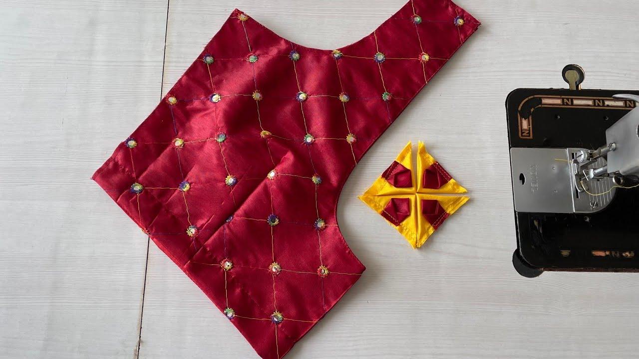 Designer Model Blouse Gala Design  Silk saree model blouse design cutting &stitching/Blouse design