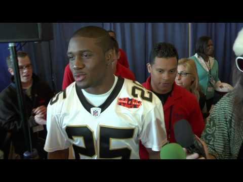 Reggie Bush at Super Bowl XLIV Media Day