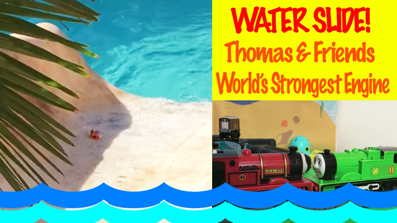 Thomas & Friends Minis go on a Water slide - World's Strongest Engine