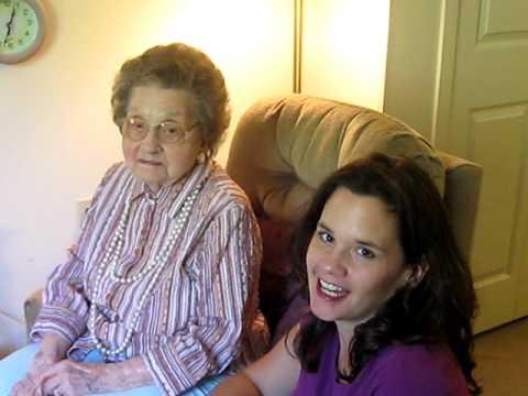 Nina Warren 99 and 11 months - talks with granddaughter, Lori
