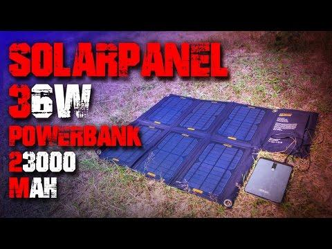 XTPower Solarpanel 36W & Powerbank 23.000 mAh - Review Test Outdoortest (Deutsch/German)