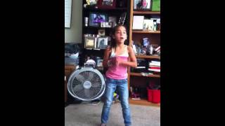 Zalia singing never say never