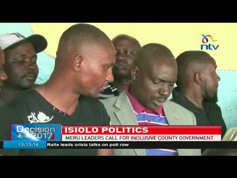 Meru leaders call for an inclusive county government