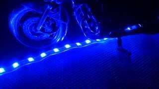 【HD】 LED チューブ ブルー 青 テープ 車 バイク 12V 高品質 LEDカスタム