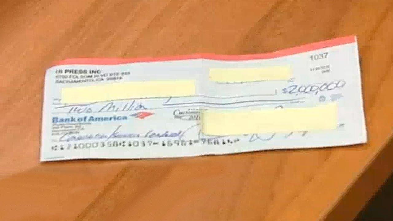 Un Cheque De 2 Millones De Dólares En El Metro Youtube