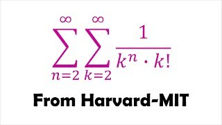 Double Summation from Harvard-MIT Math Tournament (HMMT)