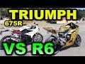 Yamaha R6 Vs Triumph Daytona 675r   Blitz Rider