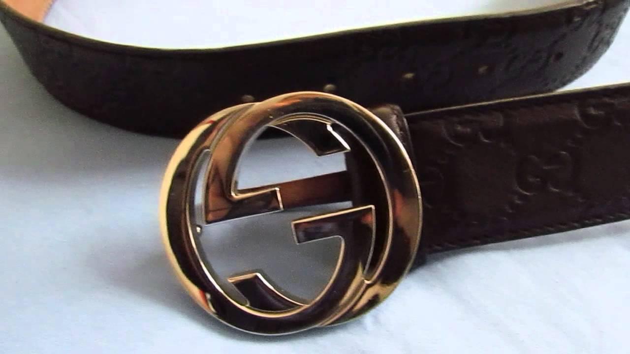 Ceinture Gucci boucle double G cuir maron - YouTube 8a80b856e9c
