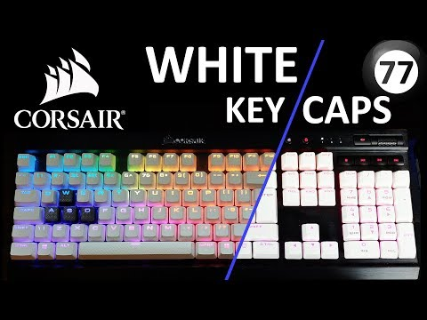 Corsair WHITE Key Caps (PBT)    Unboxing and Install to K70 RGB LUX