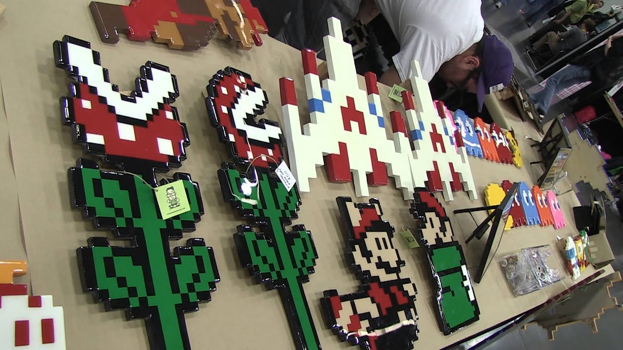 The Wooden Arcade Handmade Wooden Pixel Art Youtube