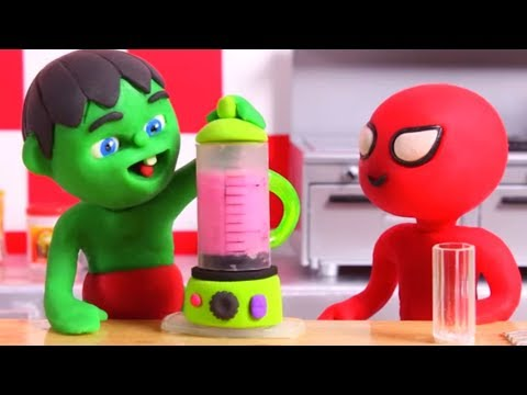 KIDS MAKING HEALTHY SMOOTHIES ❤ PLAY DOH CARTOONS FOR KIDS