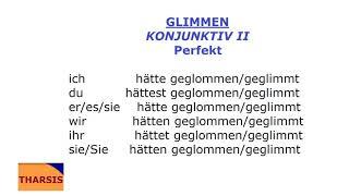 Deutsch mit Musik/glimmen