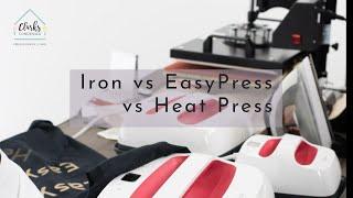 Iron vs Cricut EasyPress vs Heat Press: Which One Should You Buy?