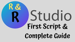 Download and Use R Studio First Program - Complete Guide