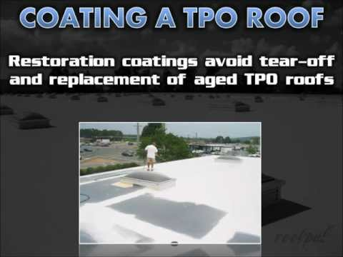 Coating TPO Single-Ply Roofs - Conklin Roofing Systems - Randy Patton