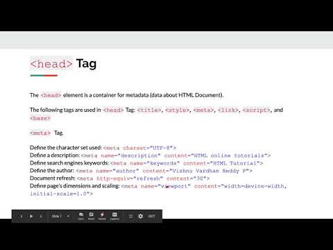HTML Tutorial - Lecture 3 HTML Head, Metadata, Styling, Link, Script and Title tags thumbnail