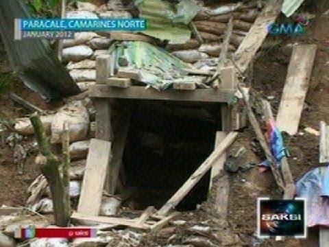 Saksi:  12 minero sa Paracale, Camarines Norte, na-trap dahil sa pagguho sa minahan