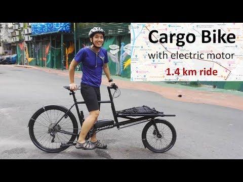 Cargo Bike In Traffic Filmed From Brompton
