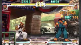 Akuma (Me) vs Ryu - Double KO victory