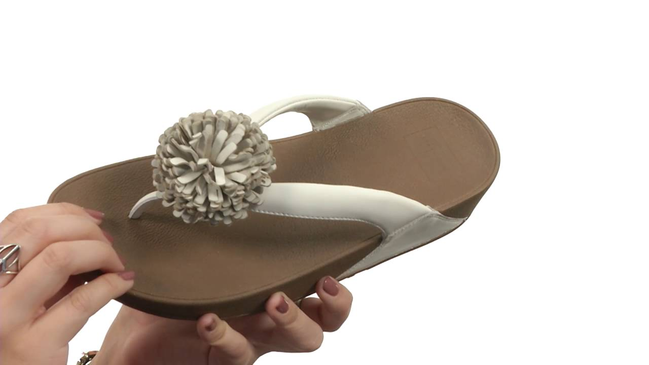 41452db762d6 FitFlop Flowerball Leather Toe Post SKU 8733280 - YouTube