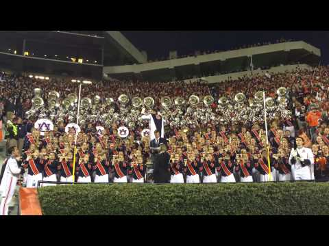 Auburn Tigers Marching Band Plays War Eagle