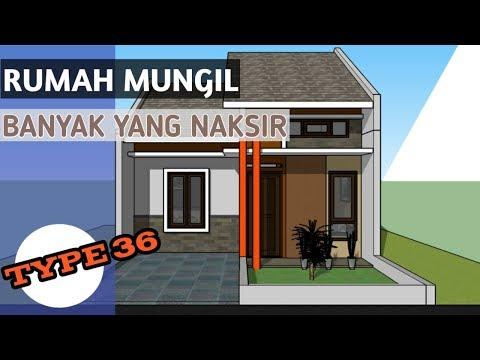 Desain Rumah Kecil Minimalis Type 36 Di Lahan 6x12 Meter Youtube