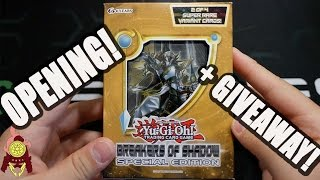 *YUGIOH* BREAKERS OF SHADOWS SPECIAL EDITION OPENING!! + ANOTHER GIVEAWAY!! WOOO