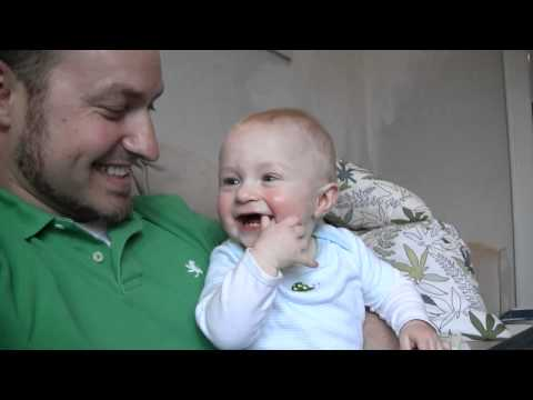 Baby Micah Laughing Hysterically at Daddy's Burp Noises