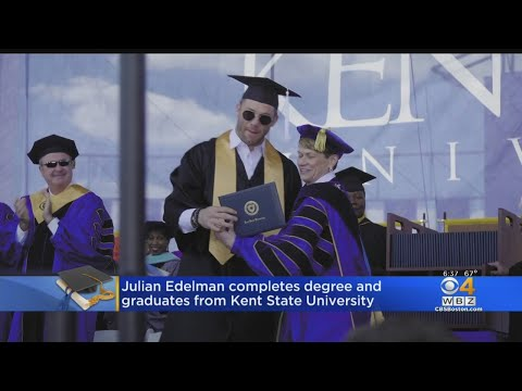 80f471acfa02ad Patriots Julian Edelman Gets His Degree From Kent State University - YouTube