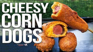 Easy Cheesy Homemade Corn Dogs | SAM THE COOKING GUY 4K