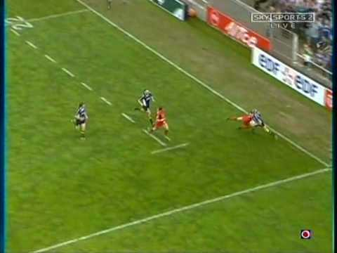 Denis Hickie Try - HeinekenCup QtrFinal Toulouse vs Leinster at Stadium Municipal 2006