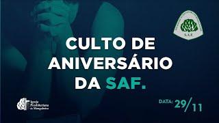 Culto de Aniv. da SAF - IP. Mangabeira - 29/11/2020
