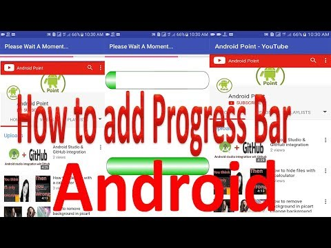 How to Use horizontal Progress Bar in webview Android