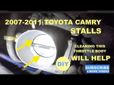 2011 Totota Camry Stalls How to clean throttle body