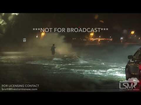 10-7-17 Gulfport, Mississippi Hurricane Nate - Waves - Coastal Flooding