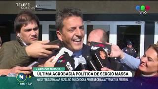 Hace tres semanas Sergio Massa aseguraba quedarse en Alternativa Federal y que no pasaría al kirchne