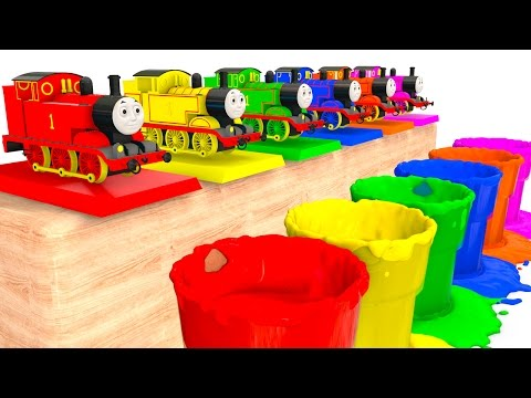 Thumbnail: Learn Colors with Thomas Train Toy and Colors for Kids - Cars Superheroes for babies children