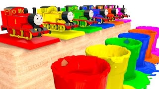 Learn Colors with Thomas Train Toy and Colors for Kids - Cars Superheroes for babies children