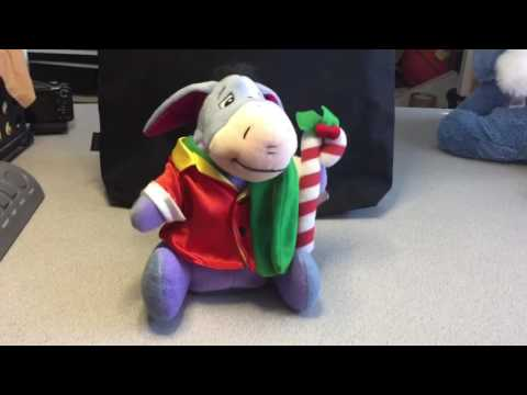 Eeyore Xmas musical dancing plush