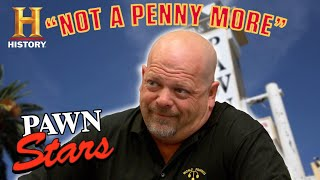 "Pawn Stars: ""NOT A PENNY MORE!"" (9 of Rick's Toughest Negotiations) 