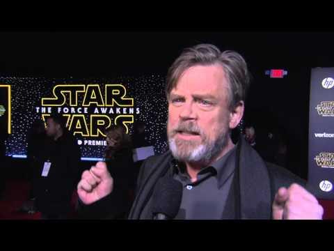 """Star Wars - The Force Awakens: Mark Hamill """"Luke Skywalker"""" Red Carpet Interview"""
